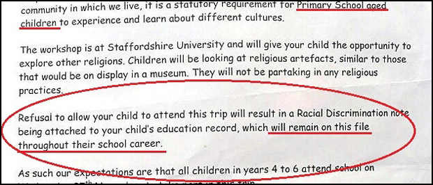 British School Threatens To Label Students Racists Unless They Attend Islam Field Trip