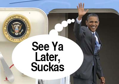obama wasted in hawaii