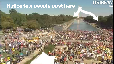 rally extend reflecting pool foot lincoln memorial nonmillion marxist march
